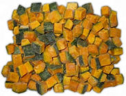 Grade A IQF Frozen Food , Individual Quick Freezing Pumpkin Dice / Slice